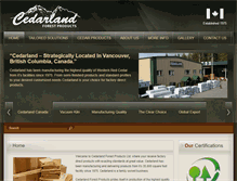 Tablet Preview of cedarland.ca
